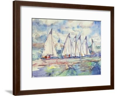 Blue Sailboats, 1989-Brenda Brin Booker-Framed Giclee Print