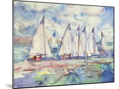 Blue Sailboats, 1989-Brenda Brin Booker-Mounted Giclee Print