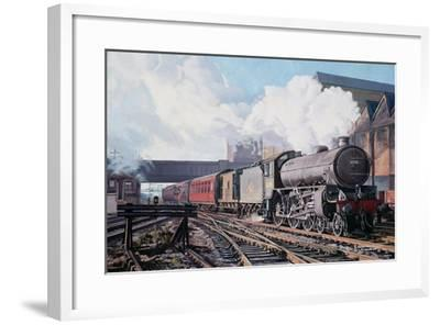 A 'Thompson' B1 Class Moving Empty Stock on a Cold February Morning, 1998-David Nolan-Framed Giclee Print