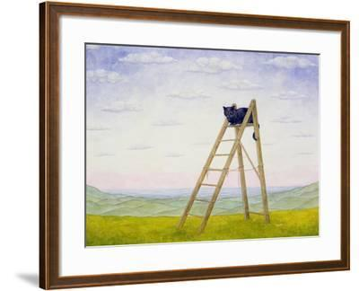 The Ladder Cat-Ditz-Framed Giclee Print