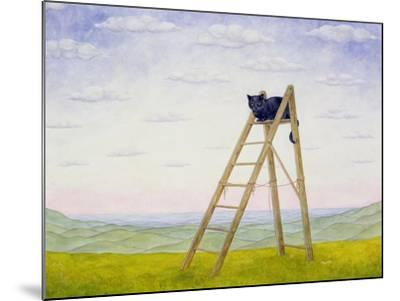 The Ladder Cat-Ditz-Mounted Giclee Print