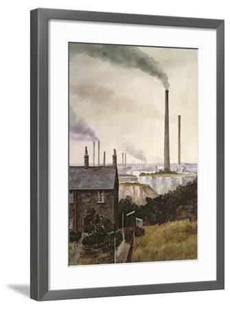 North Kent Landscape - Nr. Northfleet, Gravesend-Vic Trevett-Framed Giclee Print