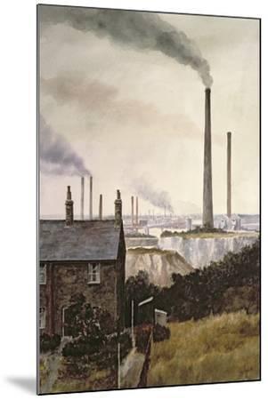 North Kent Landscape - Nr. Northfleet, Gravesend-Vic Trevett-Mounted Giclee Print