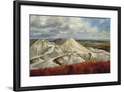 Cornish Landscape - China Clay Quarries at St. Austell-Vic Trevett-Framed Giclee Print