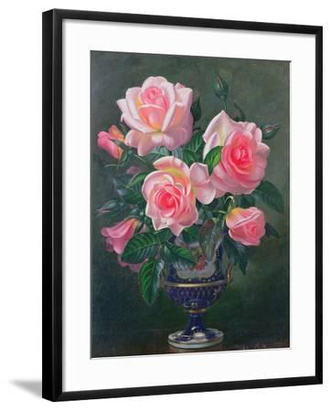 Still Life with Pink Roses in Vases-Albert Williams-Framed Giclee Print