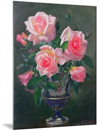 Still Life with Pink Roses in Vases-Albert Williams-Mounted Giclee Print