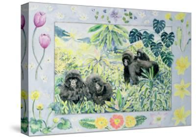 Mountain Gorillas (Month of March from a Calendar)-Vivika Alexander-Stretched Canvas Print