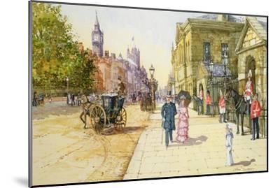 Horse Guards, Whitehall-John Sutton-Mounted Giclee Print