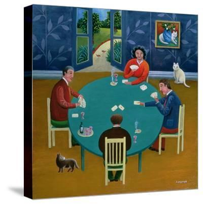 Card Game-Jerzy Marek-Stretched Canvas Print