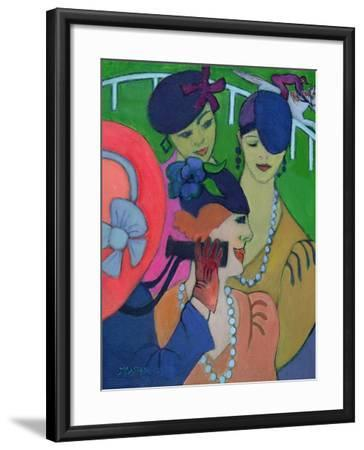 A Day at the Races-Jeanette Lassen-Framed Giclee Print