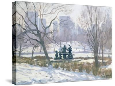 The Alice in Wonderland Statue, Central Park, New York, 1997-Julian Barrow-Stretched Canvas Print