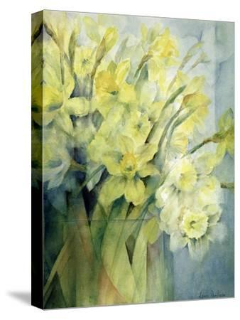 Daffodils, Uncle Remis and Ice Follies-Karen Armitage-Stretched Canvas Print