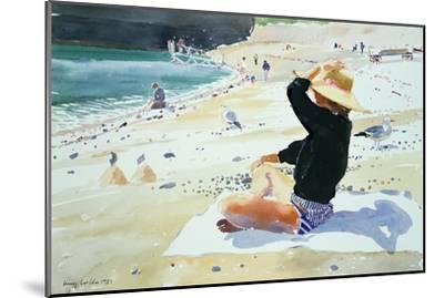 Black Jumper-Lucy Willis-Mounted Giclee Print