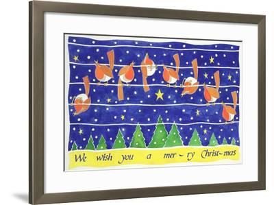 We Wish You a Merry Christmas-Cathy Baxter-Framed Giclee Print