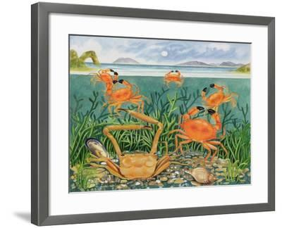 Crabs in the Ocean, 1997-E.B. Watts-Framed Giclee Print