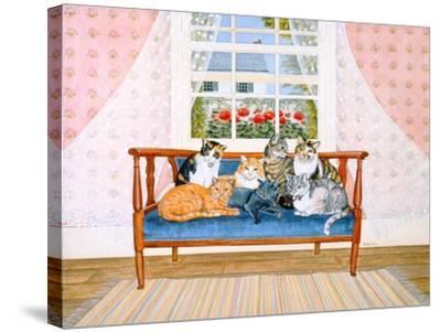 Biedermeier-Cats-Ditz-Stretched Canvas Print