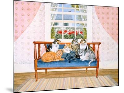 Biedermeier-Cats-Ditz-Mounted Giclee Print