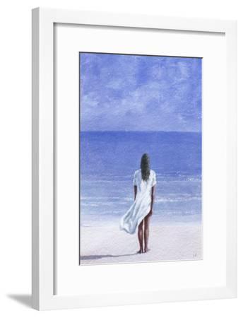 Girl on Beach, 1995-Lincoln Seligman-Framed Giclee Print