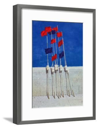 Lobster Buoys, 1990s-Lincoln Seligman-Framed Giclee Print