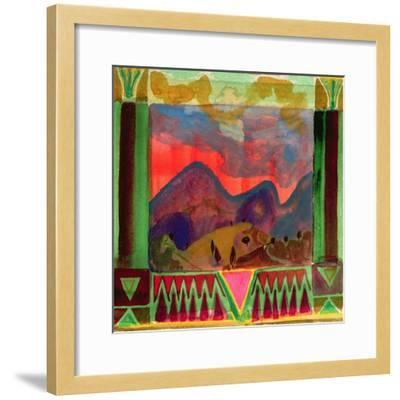 Abruzzi before Dusk-Michael Chase-Framed Giclee Print