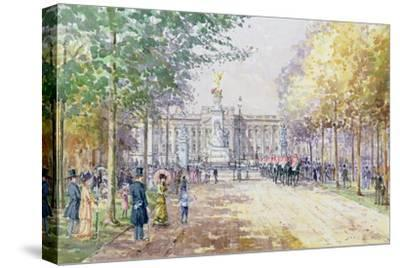 Summer in the Mall, C.1910-John Sutton-Stretched Canvas Print