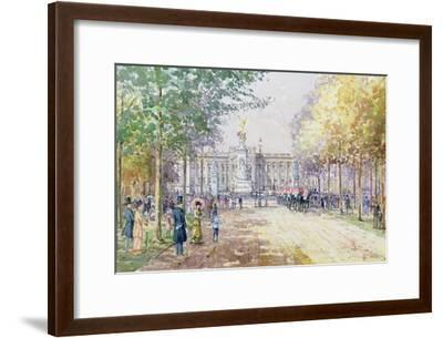 Summer in the Mall, C.1910-John Sutton-Framed Giclee Print