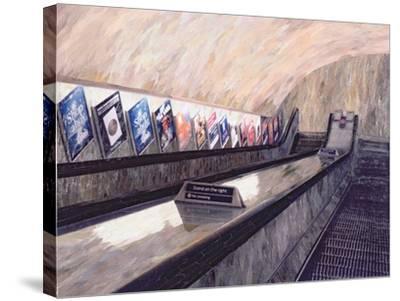 A Busker Somewhere Near, 1999-Ellen Golla-Stretched Canvas Print