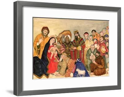 Nativity Scene-Gillian Lawson-Framed Giclee Print