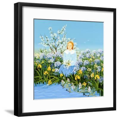 At the Shore of Dreams-Magdolna Ban-Framed Giclee Print