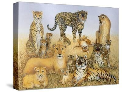 The Big Cats-Pat Scott-Stretched Canvas Print