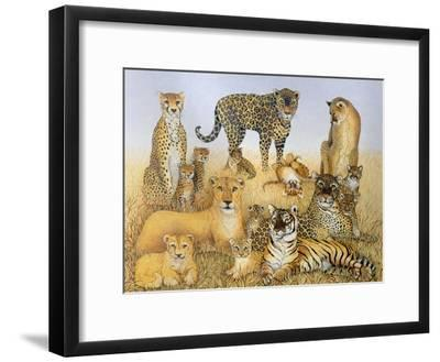The Big Cats-Pat Scott-Framed Giclee Print