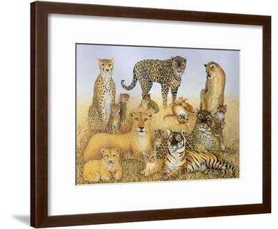 The Big Cats-Pat Scott-Framed Giclee Print