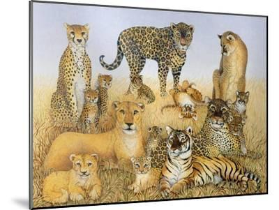 The Big Cats-Pat Scott-Mounted Giclee Print