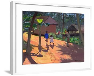 Road to Kovalum Beach, Kerala, 1996-Andrew Macara-Framed Giclee Print