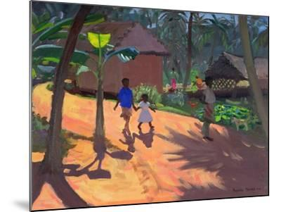 Road to Kovalum Beach, Kerala, 1996-Andrew Macara-Mounted Giclee Print