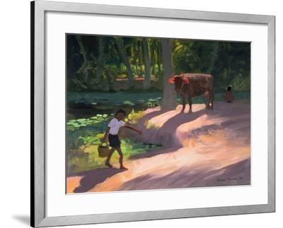 Kerala Backwaters, India, 1996-Andrew Macara-Framed Giclee Print