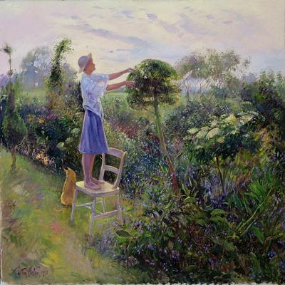 Sunset Trim, 1992-Timothy Easton-Stretched Canvas Print