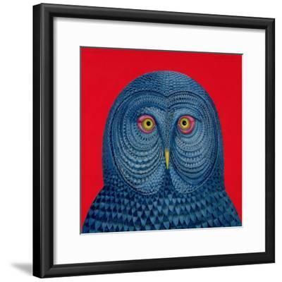 Blue Owl, 1995-Tamas Galambos-Framed Giclee Print
