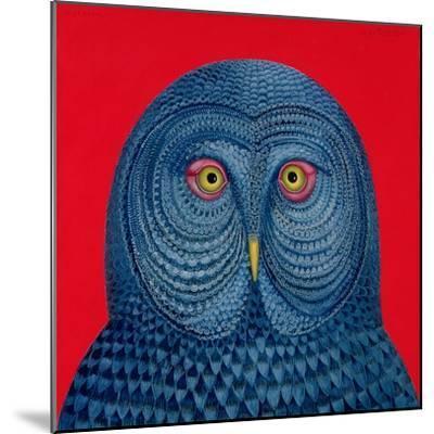 Blue Owl, 1995-Tamas Galambos-Mounted Giclee Print