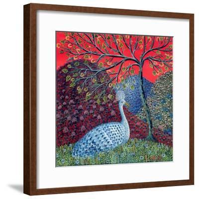 Peacock with Locusts, 1989-Tamas Galambos-Framed Giclee Print