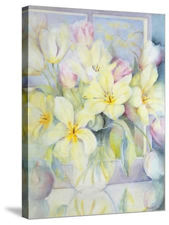 Spring Tulips-Karen Armitage-Stretched Canvas Print