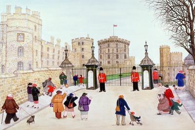 Windsor Castle Hill-Gillian Lawson-Framed Giclee Print