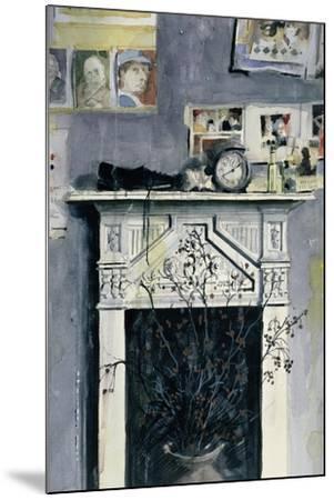 Fireplace-John Lidzey-Mounted Giclee Print
