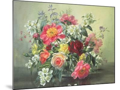 Flowers of Romantic June-Albert Williams-Mounted Giclee Print