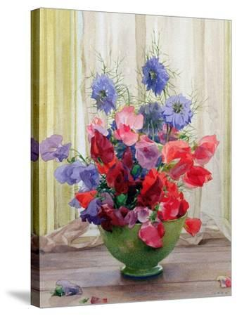 Sweet Peas and Nigella, C.1936-James Clark-Stretched Canvas Print
