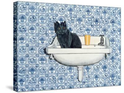My Bathroom Cat-Ditz-Stretched Canvas Print