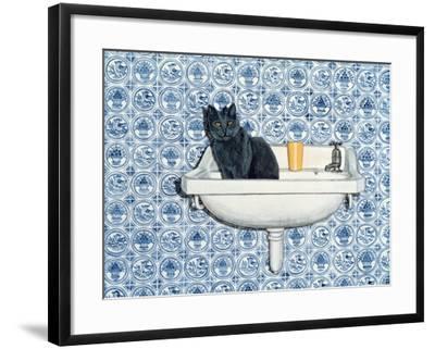 My Bathroom Cat-Ditz-Framed Giclee Print