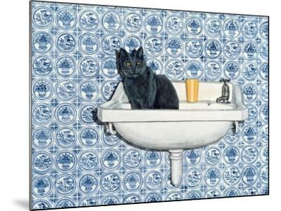 My Bathroom Cat-Ditz-Mounted Giclee Print