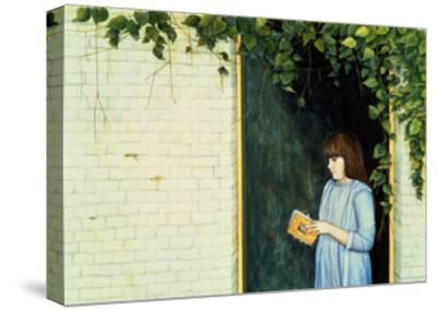 Reading Girl-Ditz-Stretched Canvas Print
