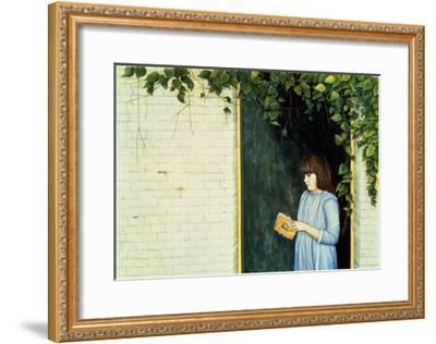 Reading Girl-Ditz-Framed Giclee Print